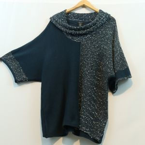 Style & Company Mixed Knit Dolman Cowl Sweater